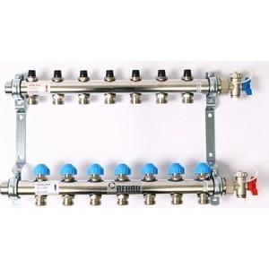 Коллекторная группа REHAU 1х3/4 7 выходов HKV без расходомера с вентилями (218071) коллекторная группа rehau 1х3 4 3 выходов hkv d с расходомером и термостатическими вентилями 208031