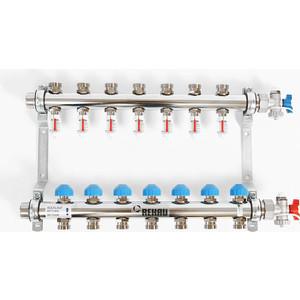 Коллекторная группа REHAU 1х3/4 7 выходов HKV-D с расходомером и термостатическими вентилями (208071) коллекторная группа rehau 1х3 4 3 выходов hkv d с расходомером и термостатическими вентилями 208031