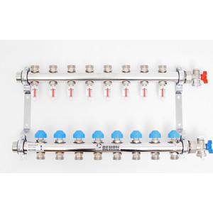 Коллекторная группа REHAU 1х3/4 8 выходов HKV-D с расходомером и термостатическими вентилями (208081) коллекторная группа rehau 1х3 4 7 выходов hkv d с расходомером и термостатическими вентилями 208071
