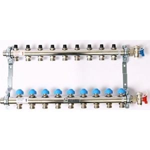 Коллекторная группа REHAU 1х3/4 9 выходов HKV без расходомера с вентилями (218091) коллекторная группа rehau 1х3 4 6 выходов hkv без расходомера с вентилями 218061