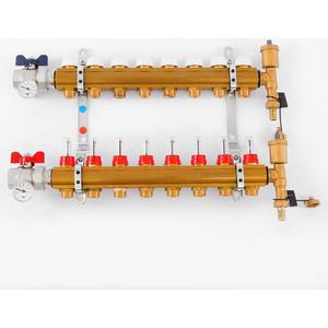 Коллекторная группа Tiemme 1х3/4х18 с расходомерами 8 выходов (3870003) ниппель радиаторный с прокладкой 1 2х3 4 tiemme