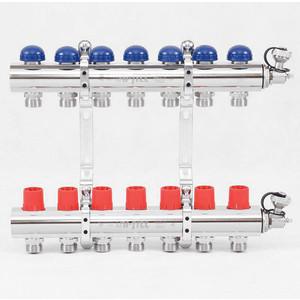 Коллекторная группа Uni-Fitt 1х3/4 7 выходов с регулировочными и термостатическими вентилями (441E4307) коллекторная группа uni fitt 1х3 4 5 выходов с регулировочными и термостатическими вентилями 451i4305
