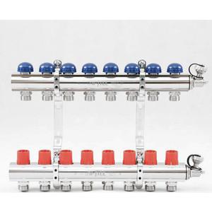 Коллекторная группа Uni-Fitt 1х3/4 8 выходов с регулировочными и термостатическими вентилями (441E4308) коллекторная группа uni fitt 1х3 4 5 выходов с регулировочными и термостатическими вентилями 451i4305