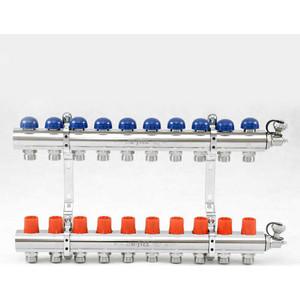 Коллекторная группа Uni-Fitt 1х3/4 10 выходов с регулировочными и термостатическими вентилями (441E4310)