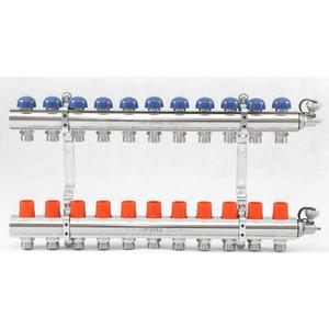Коллекторная группа Uni-Fitt 1''х3/4'' 11 выходов с регулировочными и термостатическими вентилями (441E4311) 1