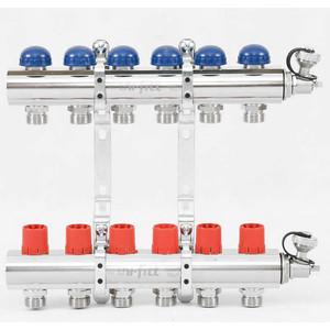 Коллекторная группа Uni-Fitt 1х3/4 6 выходов с регулировочными и термостатическими вентилями (451I4306)