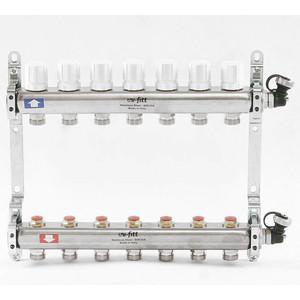 Коллекторная группа Uni-Fitt 1х3/4 7 выходов с регулировочными и термостатическими вентилями (451I4307)