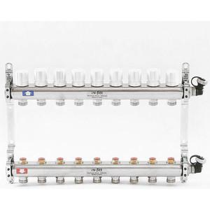 Коллекторная группа Uni-Fitt 1х3/4 9 выходов с регулировочными и термостатическими вентилями (451I4309) коллекторная группа uni fitt 1х3 4 6 выходов с регулировочными и термостатическими вентилями 451i4306