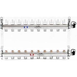 Коллекторная группа Uni-Fitt 1х3/4 10 выходов с регулировочными и термостатическими вентилями (451I4310) коллекторная группа uni fitt 1х3 4 5 выходов с регулировочными и термостатическими вентилями 451i4305
