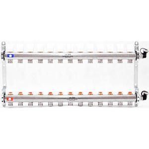 Коллекторная группа Uni-Fitt 1х3/4 13 выходов с регулировочными и термостатическими вентилями (451I4313) коллекторная группа uni fitt 1х3 4 5 выходов с регулировочными и термостатическими вентилями 451i4305