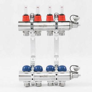 Коллекторная группа Uni-Fitt 1х3/4 4 выходов с расходомерами и термостатическими вентилями (440E4304) коллекторная группа itap 1х3 4 4 выходов с расходомерами и термостатическими вентилями 917c 1 4