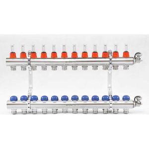Коллекторная группа Uni-Fitt 1х3/4 12 выходов с расходомерами и термостатическими вентилями (440E4312) коллекторная группа uni fitt 1х3 4 12 выходов с расходомерами и термостатическими вентилями 440e4312