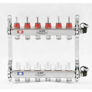 Коллекторная группа Uni-Fitt 1х3/4 6 выходов с расходомерами и термостатическими вентилями (450I4306) коллекторная группа itap 1х3 4 3 выходов с расходомерами и термостатическими вентилями 917c 1 3