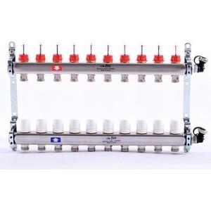 Коллекторная группа Uni-Fitt 1х3/4 10 выходов с расходомерами и термостатическими вентилями (450I4310)