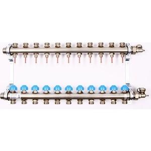 Коллекторная группа Uni-Fitt Н 1х3/4 11 выходов с расходомерами и термостатическими вентилями (455W4311) коллекторная группа uni fitt н 1х3 4 3 выходов с расходомерами и термостатическими вентилями 455w4303
