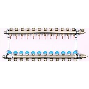 Коллекторная группа Uni-Fitt Н 1х3/4 12 выходов с расходомерами и термостатическими вентилями (455W4312) коллекторная группа uni fitt н 1х3 4 3 выходов с расходомерами и термостатическими вентилями 455w4303