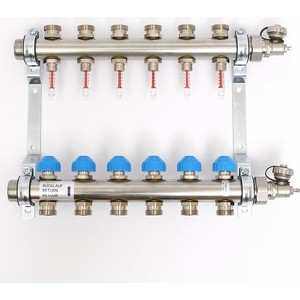 Коллекторная группа Uni-Fitt Н 1х3/4 6 выходов с расходомерами и термостатическими вентилями (455W4306) коллекторная группа uni fitt н 1х3 4 3 выходов с расходомерами и термостатическими вентилями 455w4303