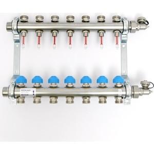 Коллекторная группа Uni-Fitt Н 1х3/4 7 выходов с расходомерами и термостатическими вентилями (455W4307) коллекторная группа uni fitt н 1х3 4 3 выходов с расходомерами и термостатическими вентилями 455w4303