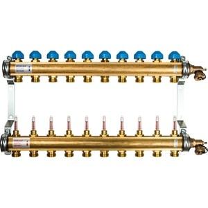 Коллекторная группа WATTS Ind HKV/T-10 1-3/4 с расходомером 10 выходов (10004204) коллекторная группа royal thermo в сборе с расходомерами 1 вр 3 4 нр 9 выходов нержавеющая сталь rte 52 109