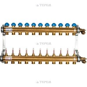 Коллекторная группа WATTS Ind HKV/T-11 1-3/4 с расходомером 11 выходов (10004205) коллекторная группа royal thermo в сборе с расходомерами 1 вр 3 4 нр 9 выходов нержавеющая сталь rte 52 109