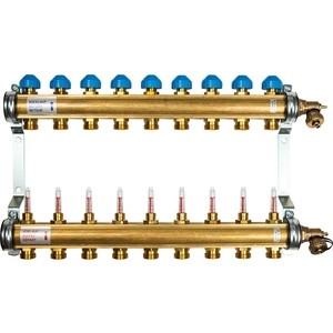 Коллекторная группа WATTS Ind HKV/T-9 1-3/4 с расходомером 9 выходов (10004203) коллектор нерж в сборе с расходомерами 1 вр 3 4 нр 9 выходов