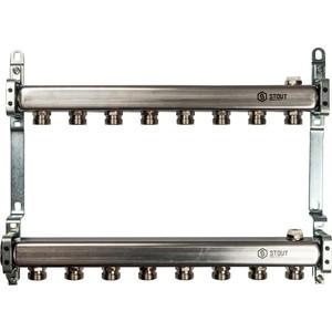 Коллекторная группа STOUT 1х3/4 8 выходов для радиаторной разводки (SMS 0923 000008) коллекторная группа stout 1х3 4 4 выходов для радиаторной разводки sms 0923 000004