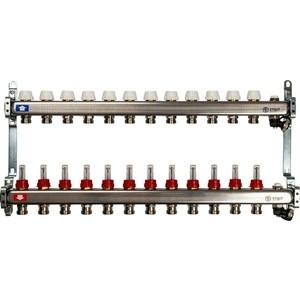 Коллекторная группа STOUT 1х3/4 12 выходов с расходомерами с клапаном выпуска воздуха и сливом (SMS-0927-000012) коллекторная группа stout 1х3 4 12 выходов с расходомерами smb 0473 000012 page 9
