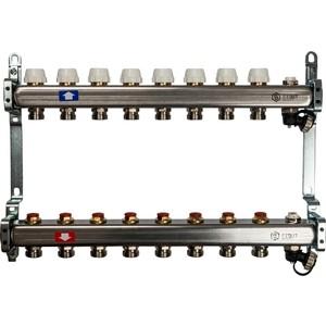 Коллекторная группа STOUT 1х3/4 8 выходов без расходомеров с клапаном выпуска воздуха и сливом (SMS-0932-000008) 0932 mantra