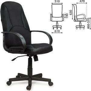 Кресло офисное Brabix City EX-512 кожзам черный ткань черная TW 531407