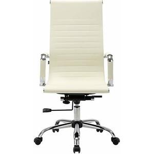Кресло офисное Brabix Energy EX-509 рециклированная кожа хром бежевое 531166