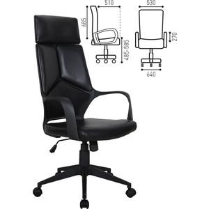 Кресло офисное Brabix Prime EX-515 экокожа черное 531569