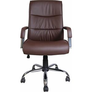 Кресло офисное Brabix Space EX-508 экокожа хром коричневое 531164 кресло офисное brabix space ex 508 цвет коричневый 531164