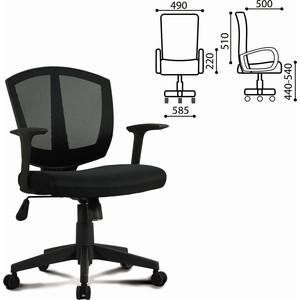 Кресло оператора Brabix Diamond MG-301 с подлокотниками черное 530865
