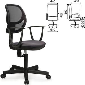 Кресло оператора Brabix Flip MG-305 с подлокотниками серое/черное TW 531416