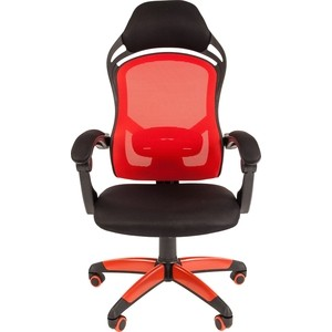 Офисноекресло Chairman game 12 черно-красный компьютерное кресло chairman game 8 черно синий