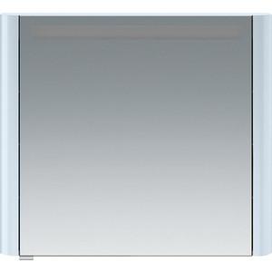 Зеркальный шкаф Am.Pm Sensation 80 правый, с подсветкой, светло-голубой (M30MCR0801BG) зеркальный шкаф vigo mirella 80 с подсветкой белый