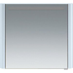 Зеркальный шкаф Am.Pm Sensation 80 левый, с подсветкой, светло-голубой (M30MCL0801BG) зеркальный шкаф vigo mirella 80 с подсветкой белый