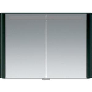 Зеркальный шкаф Am.Pm Sensation 100 с подсветкой, антрацит (M30MCX1001AG) зеркальный шкаф с подсветкой am pm sensation m30mcr0801ng