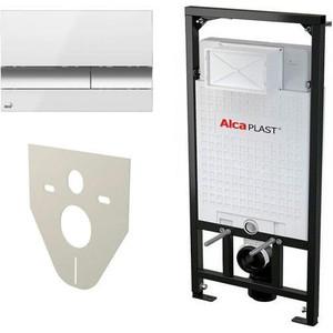 Инсталляция для унитаза AlcaPlast AM101/1120 с клавишей хром M1720 с шумоизоляцией M91 (AM101/1120-4:1 RUS SET)