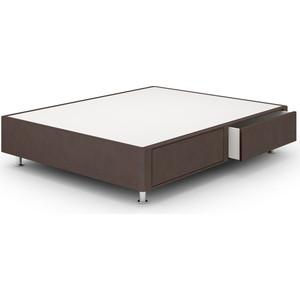 Кроватный бокс Lonax Box Maxi Draiwer (с ящиками 80x60) Эко Кожа 180x190 коричневый