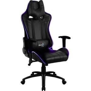 Кресло для геймера Aerocool AC120 RGB-B черное с перфорацией и RGB подсветкой ac120 rgb b