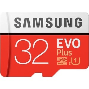 Карта памяти Samsung 32GB EVO Plus v2 microSDHC UHS-I U1 + SD Adapter (MB-MC32GA/RU) карта памяти samsung 64gb evo plus v2 microsdxc class 10 u1 sd adapter mb mc64ha