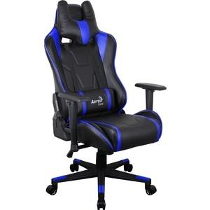 купить Кресло для геймера Aerocool AC220 AIR-BB черно-синее с перфорацией по цене 18489.5 рублей