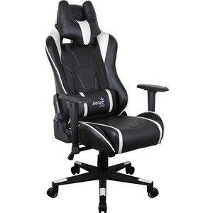 Кресло для геймера Aerocool AC220 AIR-BW черно-белое с перфорацией