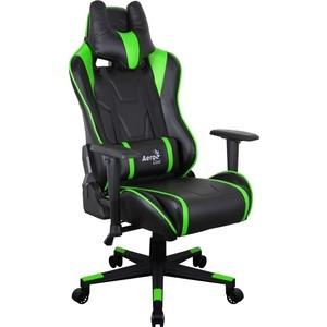 купить Кресло для геймера Aerocool AC220 AIR-BG черно-зеленое с перфорацией по цене 18489.5 рублей