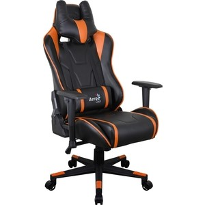 Кресло для геймера Aerocool AC220 AIR-BO черно-оранжевое с перфорацией