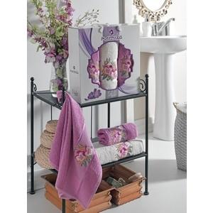 Набор из 3 полотенец Merzuka Violet махра (50x80-2/70x130-1) 3 штуки (9519 светло-лиловый) набор из 3 полотенец merzuka lale светло розовый махра 50x80 2 70x130 1 9293светло розовый
