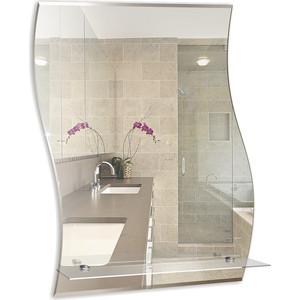 Зеркало Mixline Волна-Люкс 47х68,5 с полкой и фацетом (4620001980307) зеркало д ванной модерн люкс 60х80 см с полкой фацетом 10мм