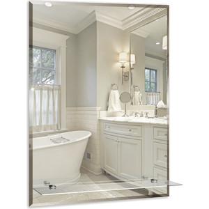 Зеркало Mixline Модерн-Люкс 49,5х68,5 с полкой и фацетом (4620001980697) зеркало д ванной модерн люкс 60х80 см с полкой фацетом 10мм