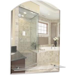 Зеркало Mixline Шанс-Люкс 49,5х67 с полкой и фацетом (4620001981113) зеркало д ванной модерн люкс 60х80 см с полкой фацетом 10мм